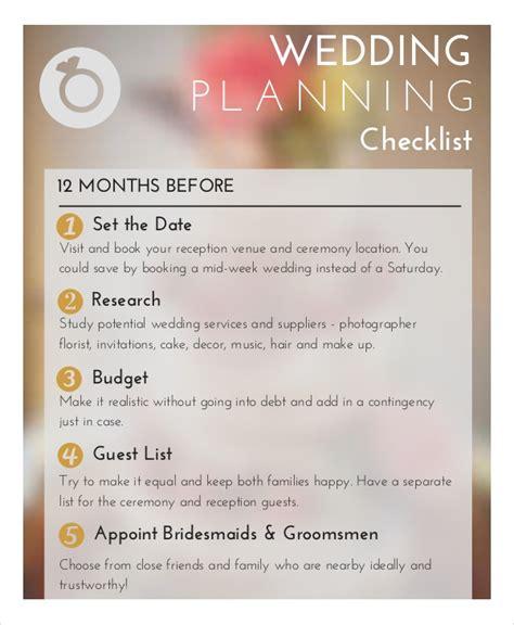 wedding planner checklist   word  psd