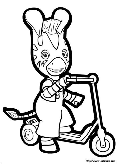 dibujos para pintar zou la cebra zou la cebra para imprimir coloriage zou fait de la trottinette