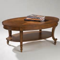 magnussen t1052 aidan wood oval coffee table traditional