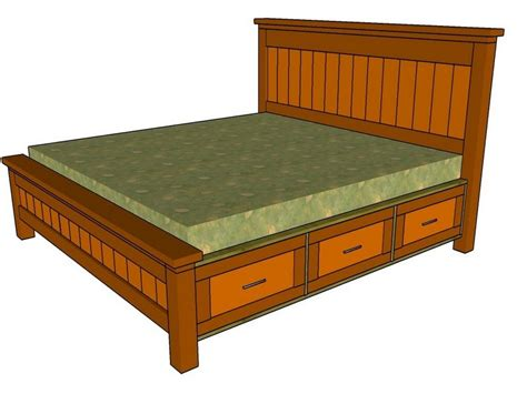 queen size bed frame plans queen size storage bed frame plans home design ideas
