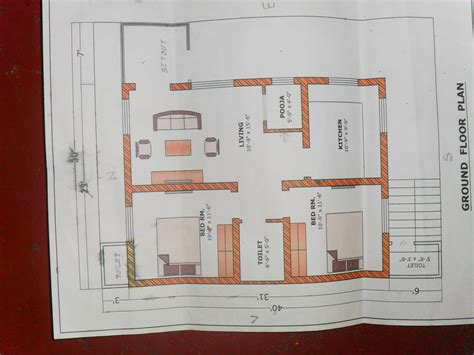 House Design 15 30 Feet by Proposed Plan In A 40 Feet By 30 Feet Plot Gharexpert