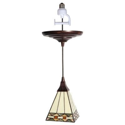worth home products 1 light antique bronze instant pendant
