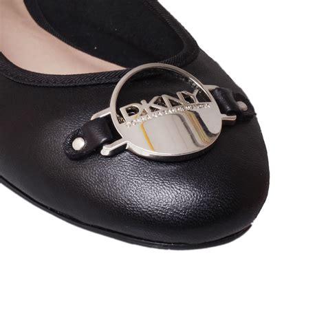 Flat Shoes Tm 07 Suede dkny deborah ballerina shoes in black lyst