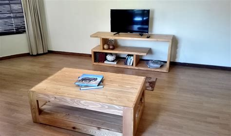 coffee table tv stand combo home creator creations custom wooden furniture pallet