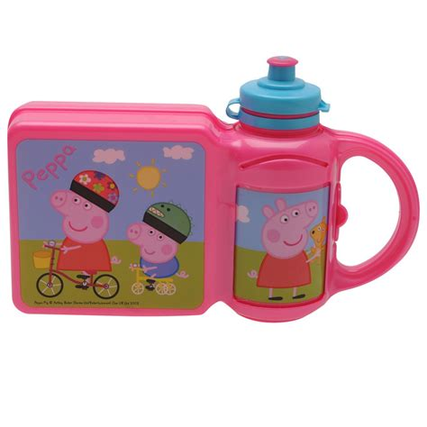 X Tream Meal Box Set by Peppa Pig Lunch Box Set School Picnic Meal Carry Pink