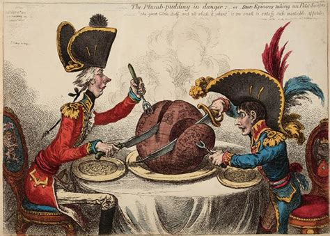 The Plumb Pudding In Danger by Gillray Shocking Satire Two Centuries The