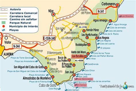 mapa parque cabo de gata cabo de gata map cabo de gata cabo gato y