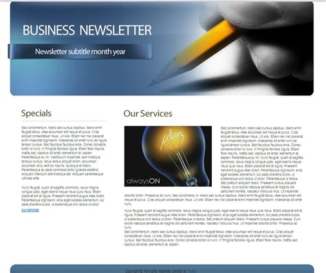 template newsletter free free html business newsletter template 7boats
