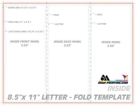template for two fold greeting card from letter size paper printing company inc 8 5 x 11 letter tri or roll fold