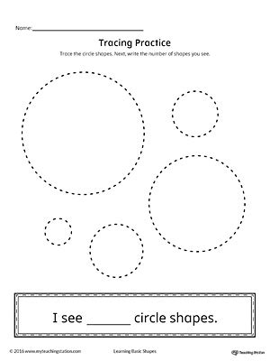 triangle pattern to trace geometric shape counting and tracing circle