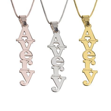 O Necklace vertical name necklace