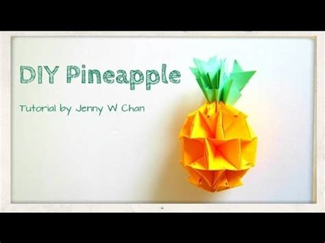 How To Make A Pineapple Out Of Paper - summer crafts diy how to make a pineapple envelope