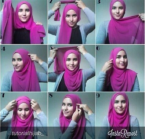 tutorial hijab on pinterest hijab tutorial hijab style pinterest more hijab