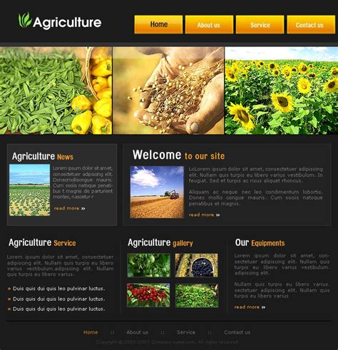 templates for agriculture website free agriculture website template