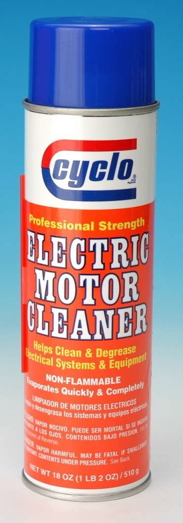 Electric Motor Cleaner lubricants