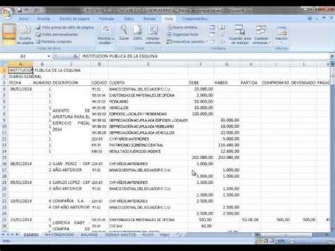 tutorial excel contabilidad full download contabilidad gubernamental en excel parte