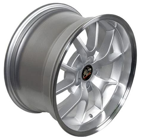ford mustang fr wheels silver   set