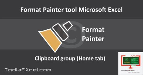 format painter excel quick key format painter tool clipboard group excel indiaexcel