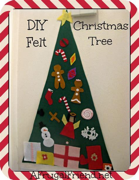 felt shingle tree diy christmas decorations kids will diy felt christmas tree for kids ornaments just stick by