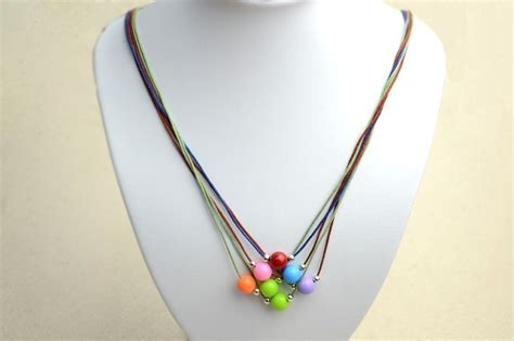 easy jewelry diy necklace ideas how to make a string bead necklace