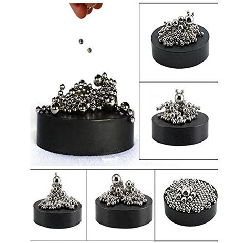 magnetic sculpture desk toy zmi magnetic sculpture desk toy with stainless steel ball