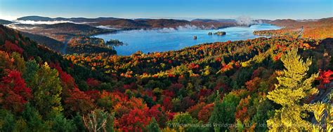 Autumn Wall Murals fourth lake in autumn rocky mt treetop