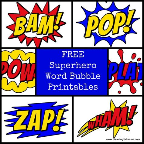 printable superhero quotes free superhero word bubble printable superhero