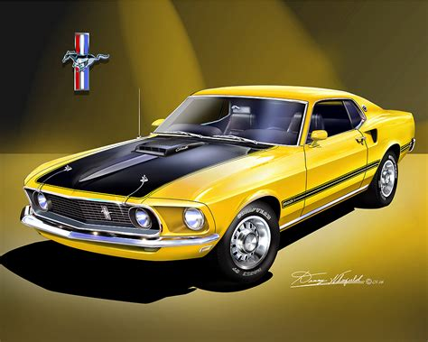 1969 1970 ford mustang prints posters by