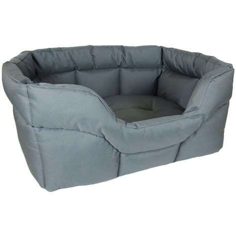 heavy duty dog beds p l country dog h duty waterproof softee bed grey large feedem