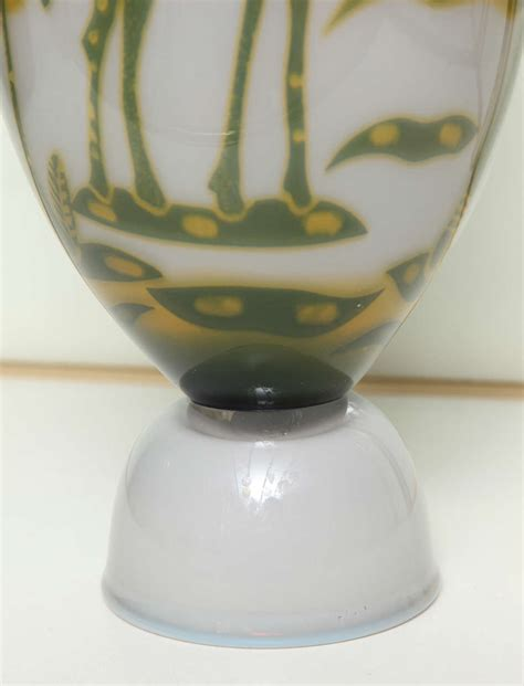 Swedish Vase by Swedish Studio Glass Vase By Wilke Adolfsson For Sale At