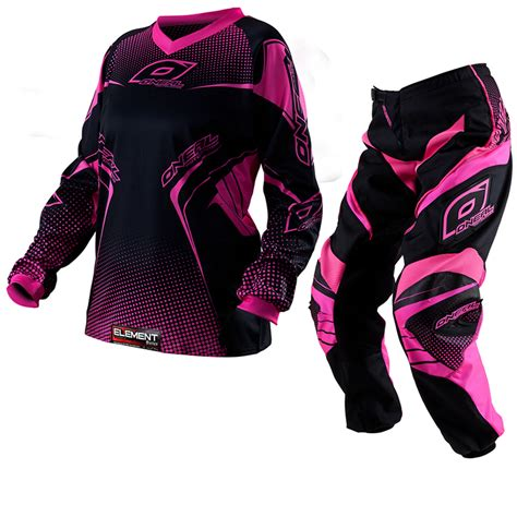 motocross jersey and combo oneal 2012 element pink womens motocross