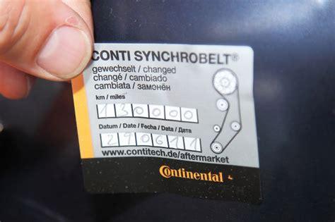 Vw Motorcode Aufkleber by Zahnriemen Kosten Und Intervalle Beim Zahnriemenwechsel