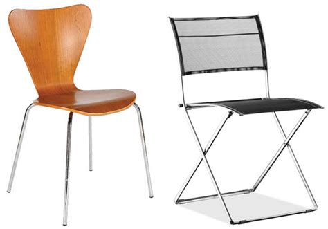 contemporary folding chairs entertaining essentials stacking folding chairs