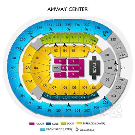 orlando magic seating amway center tickets amway center information amway