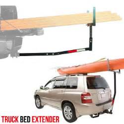 hitch mounted truck bed extender ladder rack kayak canoe