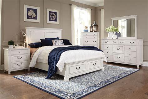 taryn  piece king storage bedroom set antique white levin furniture