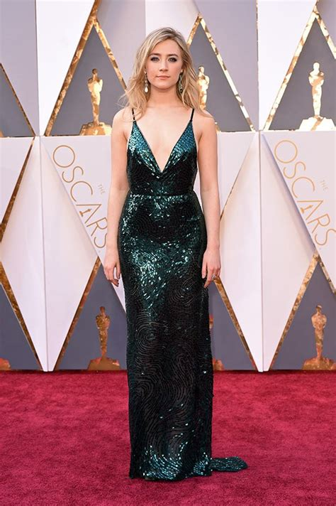 Oscars Carpet Saoirse Ronan by The 88th Annual Academy Awards Who Wore What Posh Point
