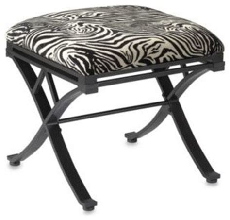 zebra vanity bench zebra vanity stool contemporary vanity stools and