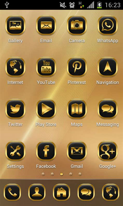 google themes gold neon gold theme go launcher android apps on google play