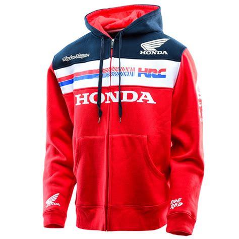 design motocross hoodie troy lee designs honda team zip up hoodie bto sports