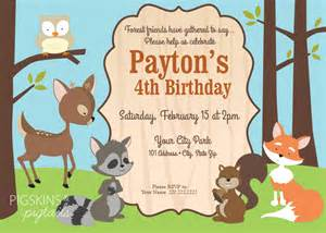 Forest Friends Woodland Theme Birthday Party Pigskins