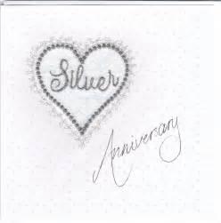 silver anniversary heart