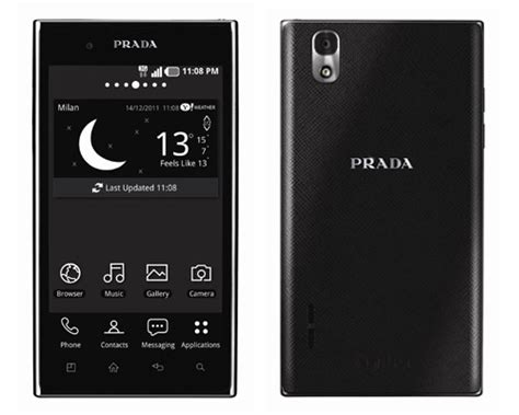 Susi Shows The Lg Prada Phone by Lg Lays Out Android 4 0 Timeline