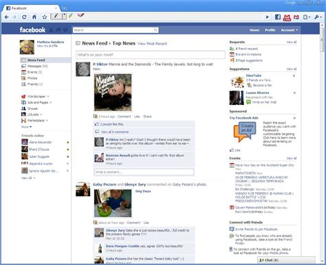 facebook themes website new facebook layout looking like a social itunes