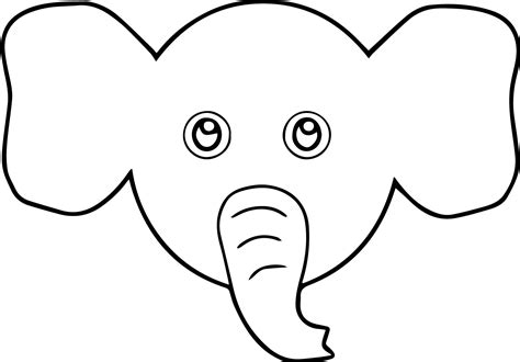 coloring page elephant face elephant face cartoon coloring page wecoloringpage