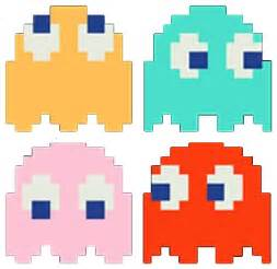 pacman ghost colors original pacman ghost clipart best
