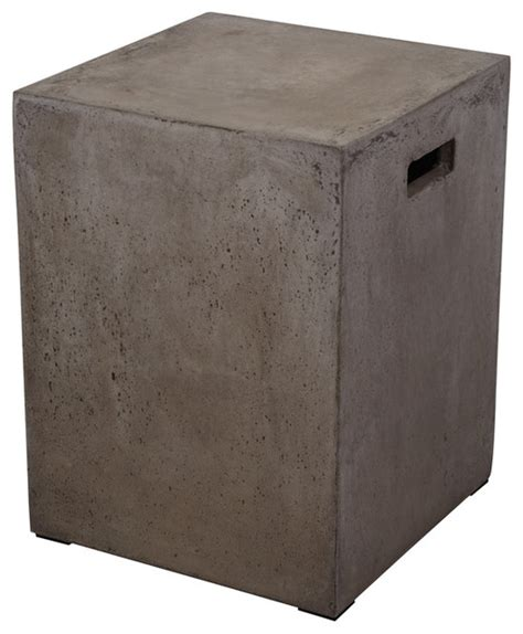 Square Garden Stool by Square Handled Concrete Stool Accent And