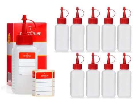 Lu Cb 100 10 x 100 ml hdpe plastic bottles with dosage caps