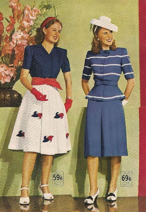 mid forties going out style wakes catalogue spring summer 1946 vintage fashion style