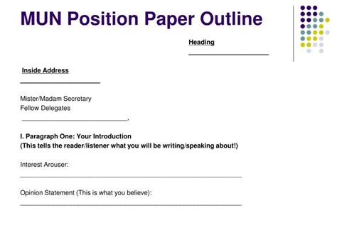 mun position papers powerpoint  id